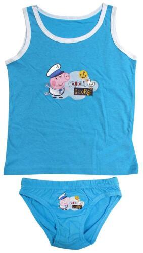 Boys Briefs Vest Peppa George Pig Pants Underpants Knickers Set 2 to 8 Years