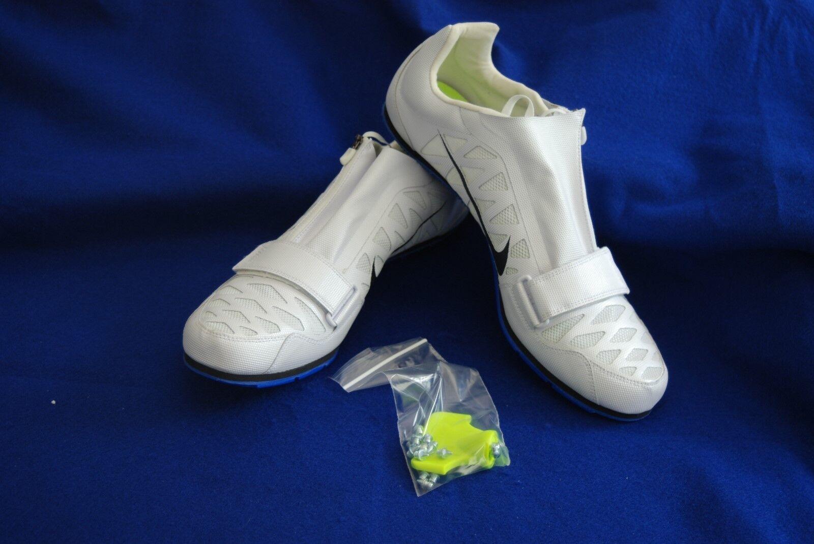 Nike Zoom LJ 4 Jump Unisex Track Spikes 415339-100 White Racer bluee Size 15