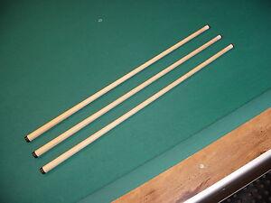 THREE (3) WOBBLE SHAFTS 5/16x18 FITS MEUCCI cue billiards pool 812-16