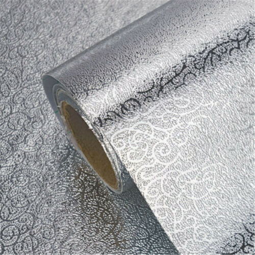 Kitchen Oil Proof Self Adhesive Aluminum Foil Wall Stickers Waterproof Stickers