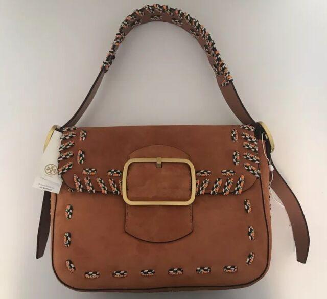 4d681fd798b6 Buy Tory Burch Runway Sawyer Stitch Tan Suede Shoulder Bag 100 ...