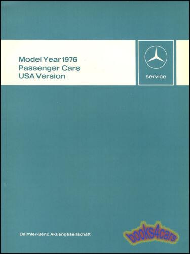MERCEDES MANUAL 1976 BOOK 116 107 450SL SERVICE INTRODUCTION 114 115 280 300 MB