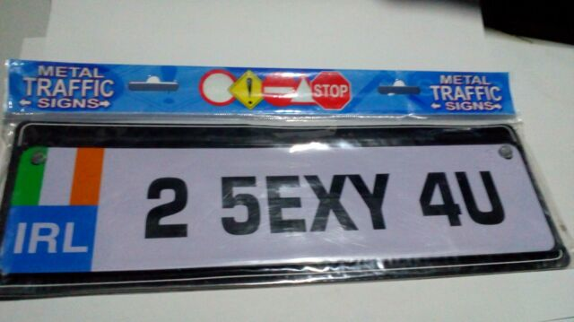 number plate style window sign truck Black on white 2 5EXY 4U Scotland Car