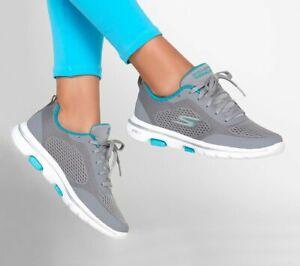 Skechers Go Walk 5, Scarpe da Ginnastica donna grey/blue, Sneakers performance