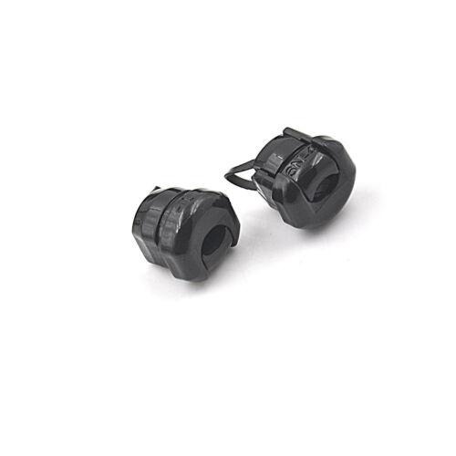 20pc 6N-4 Strain Relief Bushing SJT 18AWG T=0.5~1.6mm Nylon 66 Black TOTC