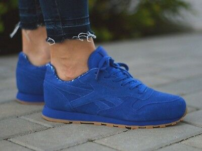 Reebok Classic Leather TDC GS Suede Trainers in Collegiate Royal Bleu BD5052