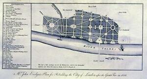 Antique-map-Mr-John-Evelyn-039-s-plan-for-rebuilding-the-City-of-London