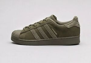 official photos 2e742 479e9 Details about ADIDAS SUEDE HARDSHELL SUPERSTAR OLIVE 6