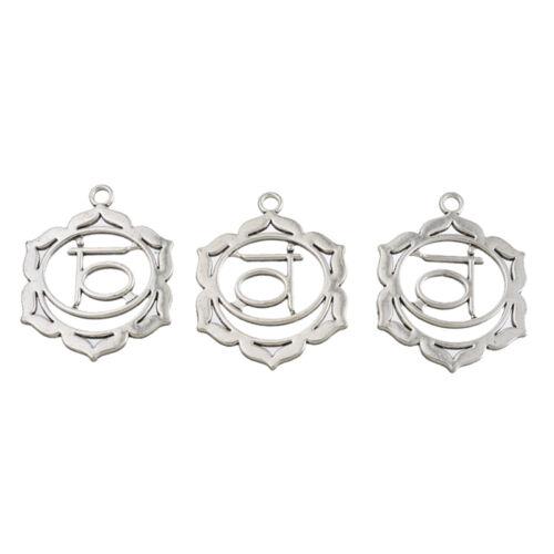 LP 10 Stücke Anhänger für Halskette Antiksilber Mode Charm Blumen Yoga M16473