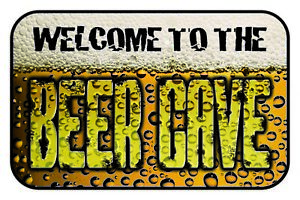 Welcome-to-the-Beer-Cave-Tin-Sign-Shield-Arched-Tin-Sign-20-x-30-cm-CC0950