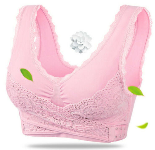 Details about  /Adjustable Front Cross Side Buckle Bras Sports Yoga Lace Vest Women Seamless Bra