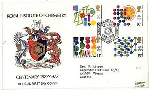T261 1977 GB CHEMISTRY QEII Scarce Royal Institute Official FDC Cover PTS