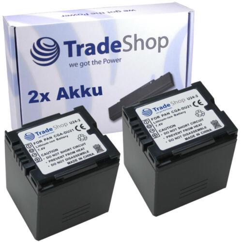 Batería 2x para Panasonic cga-du07 cgr-du07 du07a//1b