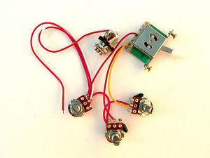 500k 5 way wiring harness kit for fender stratocaster guitar image is loading 500k 5 way wiring harness kit for fender