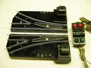 Pair-720A-American-Flyer-Remote-Switch-Tracks-w-Illuminated-Controller