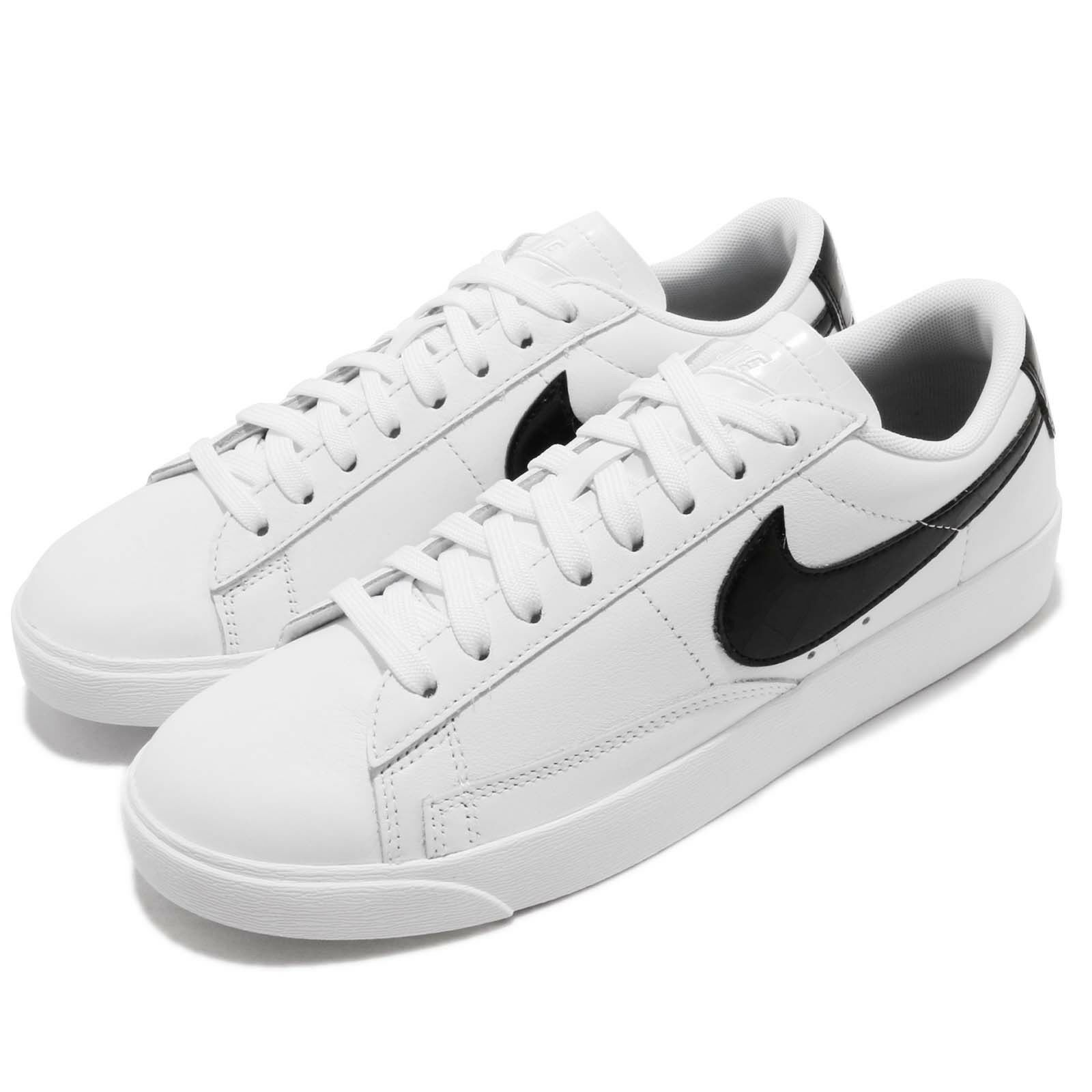Nike Wmns Blazer Low bianca nero donna Casual Lifestyle scarpe scarpe da ginnastica BQ0033-100