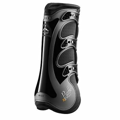 VEREDUS PIAFFE REVOLUTION BOOTS horse dressage protection front rear black white