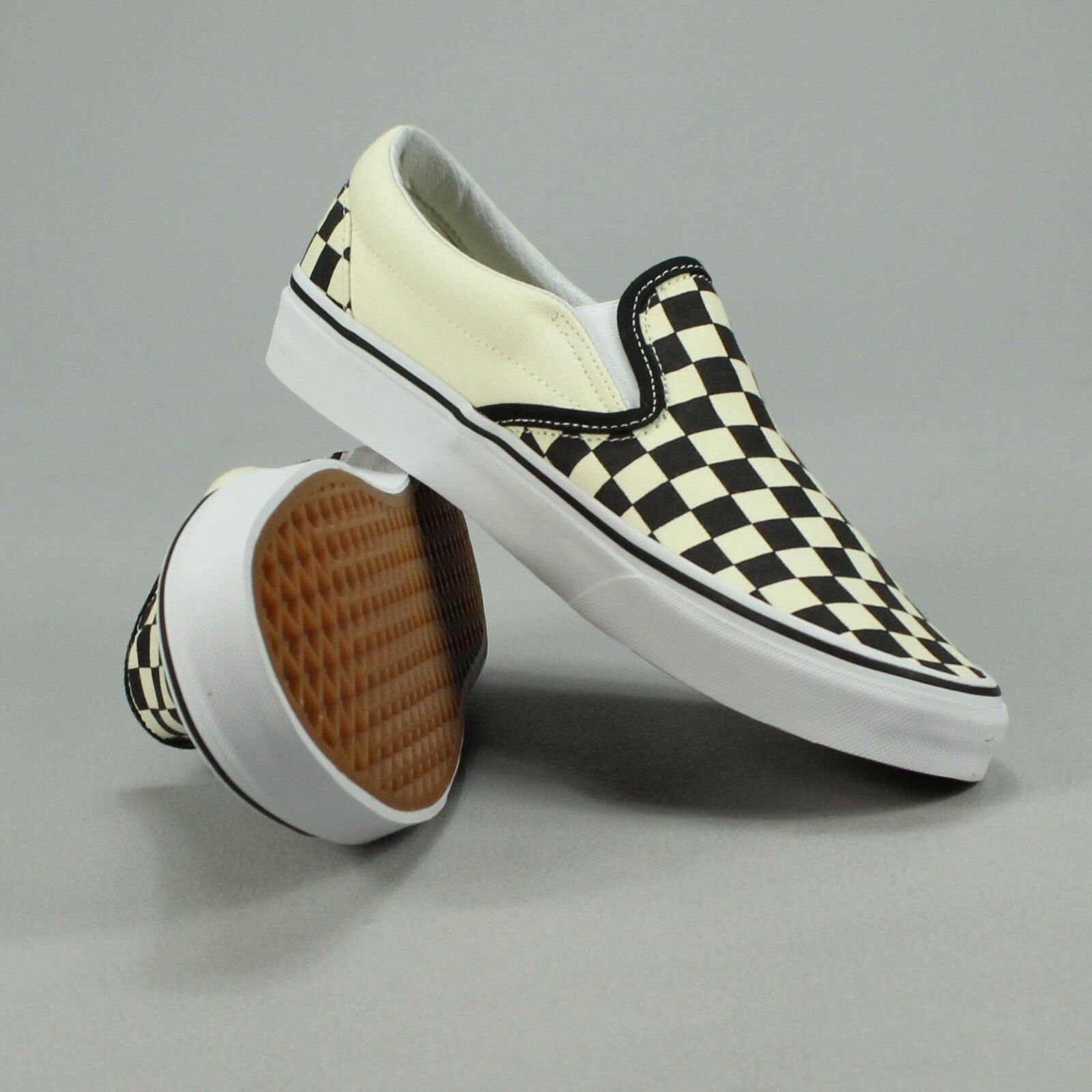 Vans Classic Slip-On Checkerboard 4,5,6,7,8,9,10,11,12 Black Trainers Sizes UK 4,5,6,7,8,9,10,11,12 Checkerboard 9556ba