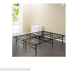 metal steel bed frame platform twin full queen king xl california size bedroom. Black Bedroom Furniture Sets. Home Design Ideas