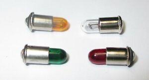 MS4 Steckbirne 19V 60mA rot,grün,gelb,klar (Märklin 600000/10/20/30) AUSWAHL NEU