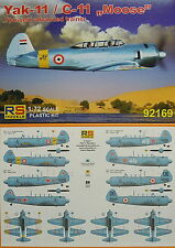 Jak-11  Moose (Yak-11),1:72, Plastik, RS-Models, NEU,Militärische Trainer