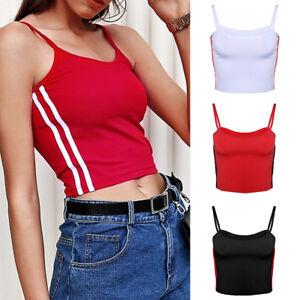 Chic-Women-039-s-Sexy-Vest-Short-Tops-Camisole-Crop-Tank-Top-Sleeveless-T-Shirt-Tops