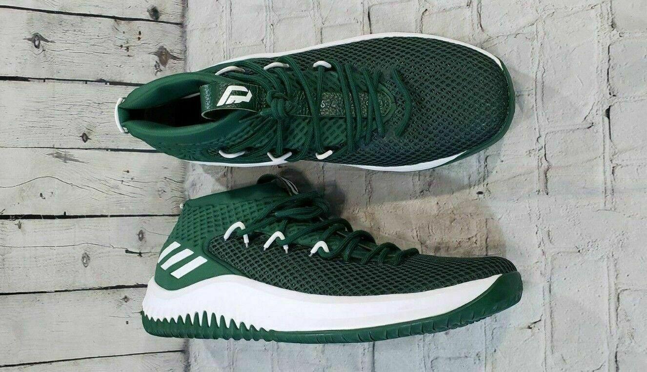 NEW Adidas Dame 4 Lillard B76016 Basketball shoes MEN'S SIZE SIZE SIZE 17 Green White be3940
