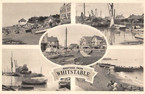 R302165 Greetings from Whitstable. The Harbour. The Beach. Tankerton Circus. Jar