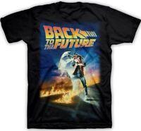 BACK TO THE FUTURE MOVIE POSTER ADULT MENS T-SHIRT TEE S M L XL XXL BLACK NEW