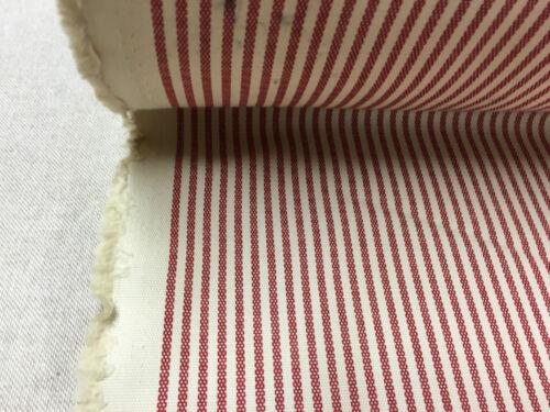Boston Ticking Stripe Curtain//Craft Fabric Red//Cream