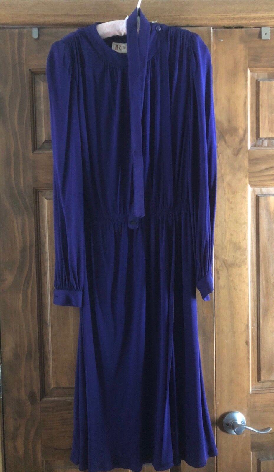 Vintage Tricosa Paris Dress - Purple M L (12)