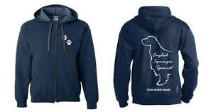 English Springer Spaniel Exclusive Dogeria Design Durable In Use Reliable English Springer Spaniel Full Zipped Dog Breed Hoodie Animals