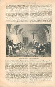 Moines-Benedictins-a-l-039-etude-Monastere-Suisse-Peinture-Marie-Gide-GRAVURE-1866