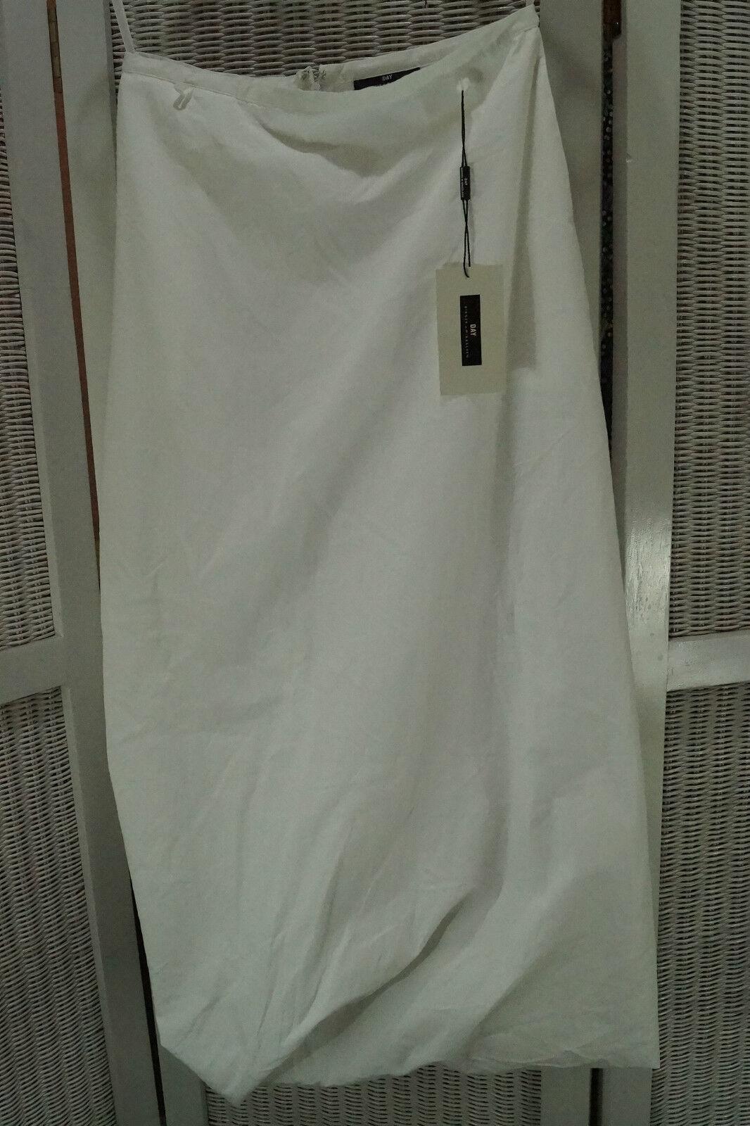 DAY BIRGER ET MIKKELSEN Skirt 29″W NEW + Blouse 38″ Avant Garde Weiß Outfit Set
