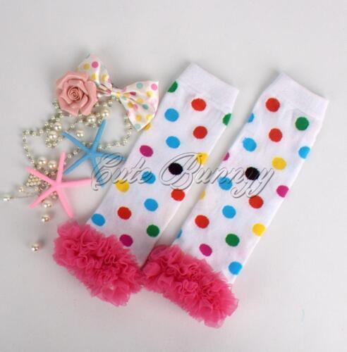 Cute Baby Toddler Girls Legging Socks Cotton Ruffles Kneepad Floral Leg Warmers