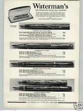 1941 PAPER AD Waterman's Eversharpe Deluxe Airline Fountain Pen Pens Doric