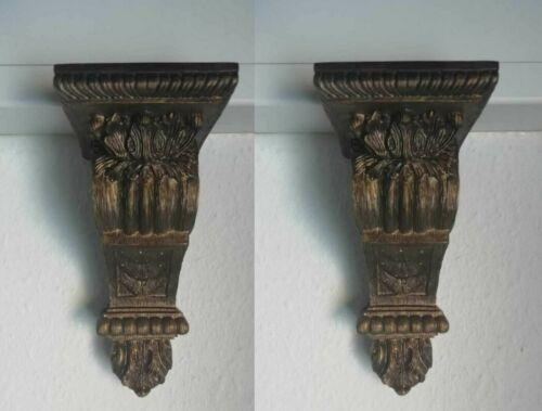 2 x étagère Support étagère console étagère Support Rideaux Support Rideau Support Antique Look