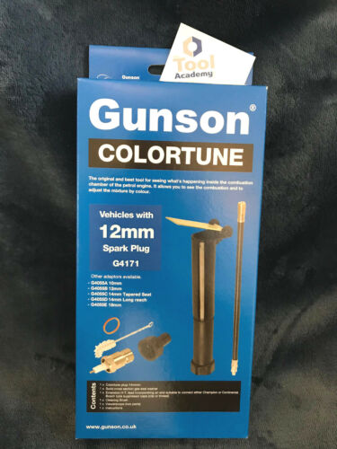 Gunson Colortune 12mm Bougie D/'Allumage Essence Mélange Fixation Moto Motos
