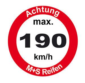 Details Zu 5 Stück Aufkleber Max Geschwindigkeit Winterreifen Ms 190 210 Oder 240kmh