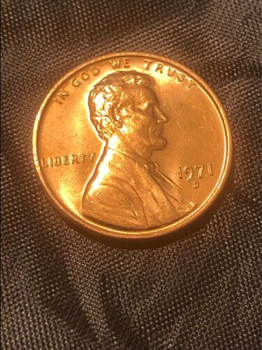 10/% of 6+ 1971 D Lincoln Penny BU From Mint Roll