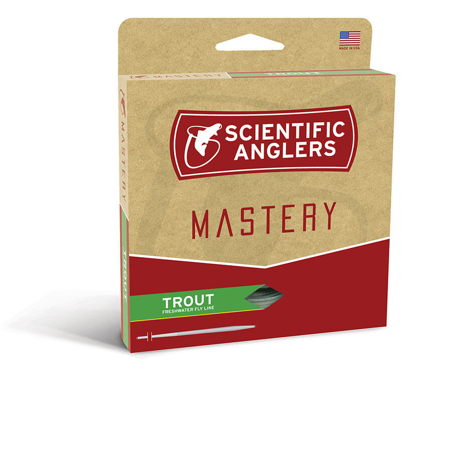 NEW SCIENTIFIC ANGLERS MASTERY TROUT WF-4-F WEIGHT FLY LINE GREEN OPTIC GREEN