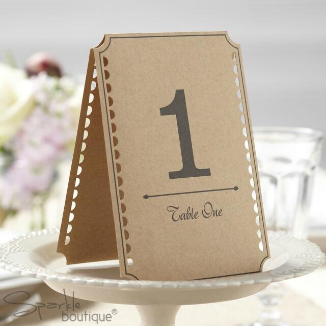 Kraft Table Numbers Rustic Vintage Country Wedding Restaurant - Table numbers restaurant supplies