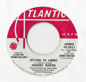 JOHNNY-RIVERS-SITTING-IN-LIMBO-US-PROMO-SINGLE-ATLANTIC-45-3011-PLAYS-OK