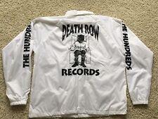 THE HUNDREDS X DEATH ROW RECORDS COACHES JACKET WHITE SZ L 1ST GEN supreme