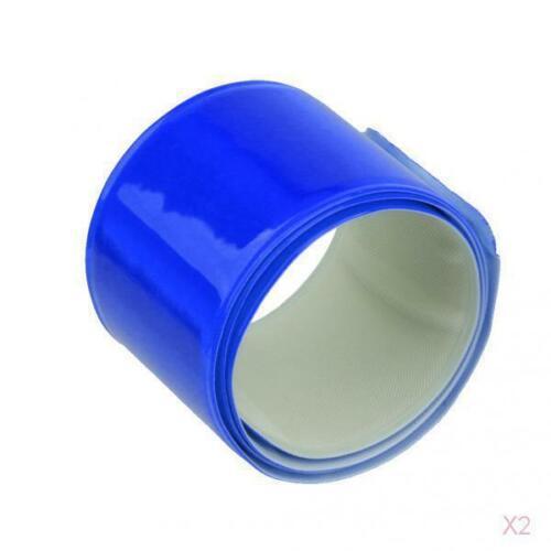 4x Fahrrad Fahrrad Reflektierende Sicherheitswarnung Blaues Band Nacht Sporthose