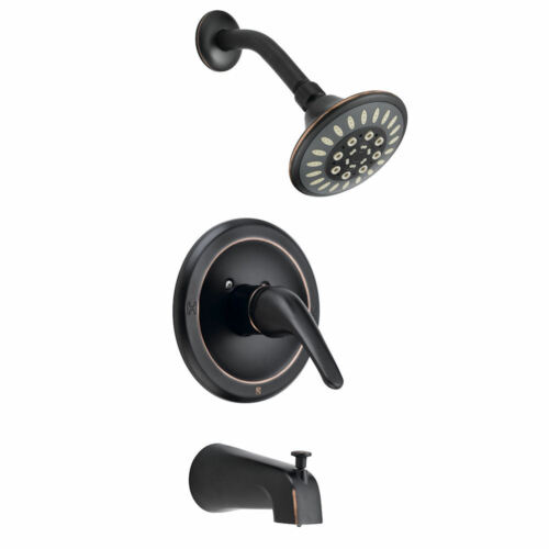 Designers Impressions Oil Rubbed Bronze 1 Handle Tub//Shower Combo Faucet  651687
