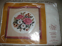 Vintage Crewel Kit classic Bouquet 1981 The Creative Circle