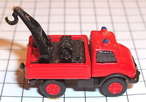 Unimog-Mercedes-Pompier-Kleinserie-Metal-Imu-Voie-N-1-160-A