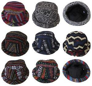 Summer-Sun-Hat-Pork-Pie-Hippy-Hat-Funny-Stripey-Colourful-Cotton-Aztec-Festival