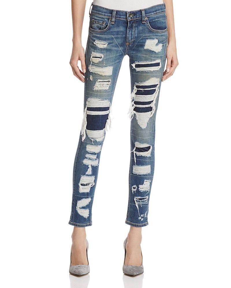 RAG & BONE Dre Jeans Destroyed Ada Brigade  sz.25(waist 28 ) NWT  325